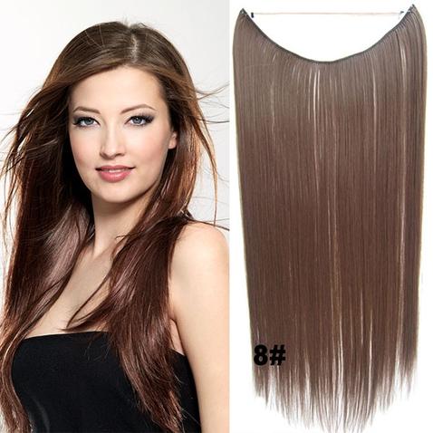 Flip in vlasy - 55 cm dlouhý pás vlasů - odstín 8