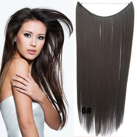 Flip in vlasy - 55 cm dlouhý pás vlasů - odstín 6