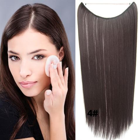 Flip in vlasy - 55 cm dlouhý pás vlasů - odstín 4