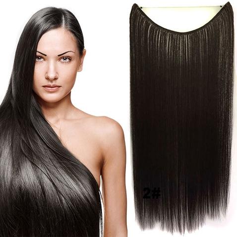 Flip in vlasy - 55 cm dlouhý pás vlasů - odstín 2