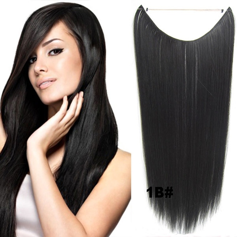 Flip in vlasy - 55 cm dlouhý pás vlasů - odstín 1B