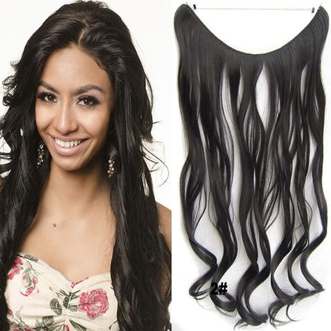 Flip in vlasy - vlnitý pás vlasů 45 cm - odstín 2