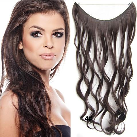 Flip in vlasy - vlnitý pás vlasů 45 cm - odstín 4