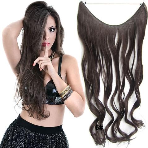 Flip in vlasy - vlnitý pás vlasů 45 cm - odstín 6