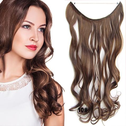 Flip in vlasy - vlnitý pás vlasů 45 cm - odstín 10