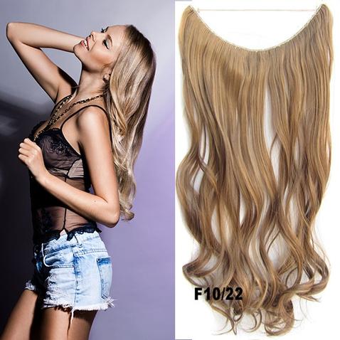 Flip in vlasy - vlnitý pás vlasů 45 cm - odstín F10/22