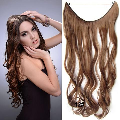 Flip in vlasy - vlnitý pás vlasů 45 cm - odstín 12