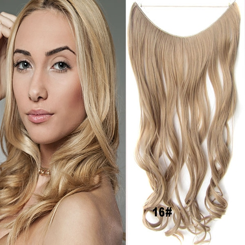 Flip in vlasy - vlnitý pás vlasů 45 cm - odstín 16