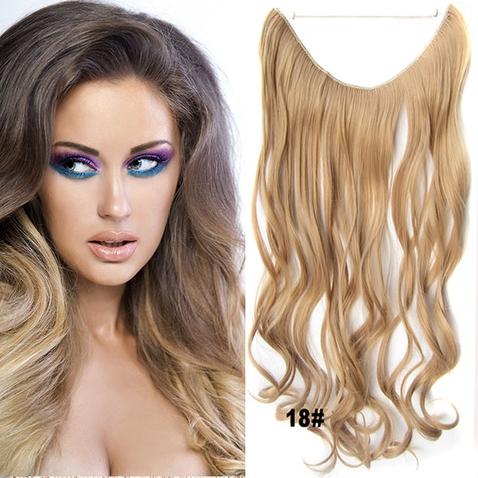 Flip in vlasy - vlnitý pás vlasů 45 cm - odstín 18
