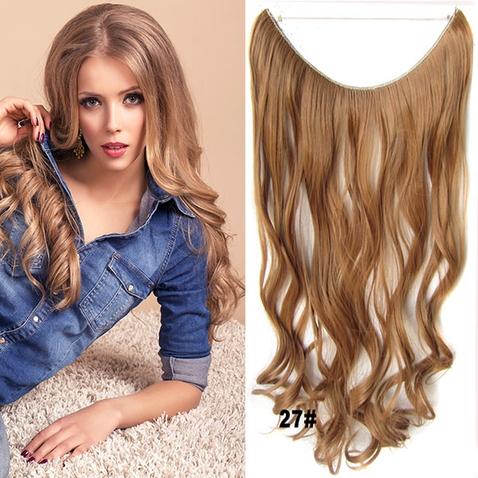 Flip in vlasy - vlnitý pás vlasů 45 cm - odstín 27
