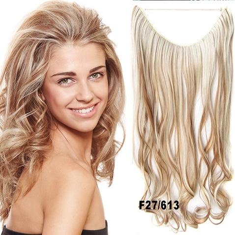 Flip in vlasy - vlnitý pás vlasů 45 cm - odstín F27/613
