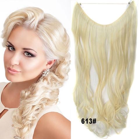 Flip in vlasy - vlnitý pás vlasů 45 cm - odstín 613