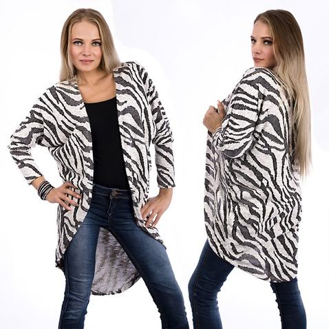 Dlouhý kardigan se vzorem zebry
