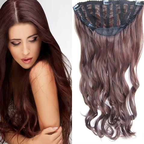 Clip in pás vlasů - Jessica 60 cm vlnitý - odstín M4/33