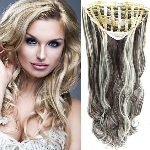 Clip in pás vlasů - Jessica 60 cm vlnitý - odstín F613/6