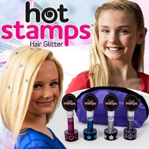 Třpytivá razítka na vlasy Hot Stamps