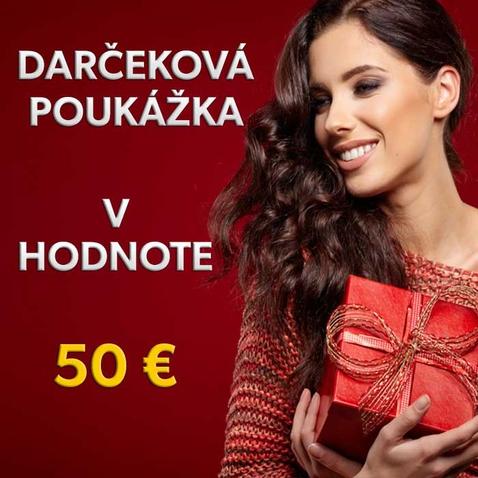Dárkový poukaz v hodnotě 50 EUR
