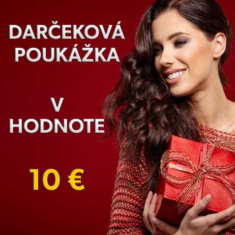 Dárkový poukaz v hodnotě 10 EUR
