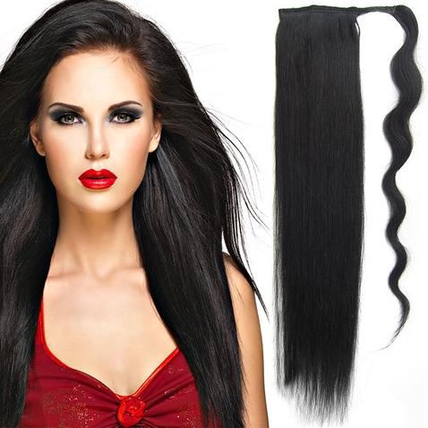 Culík, cop pravé lidské vlasy REMY, 51 cm - odstín 1#