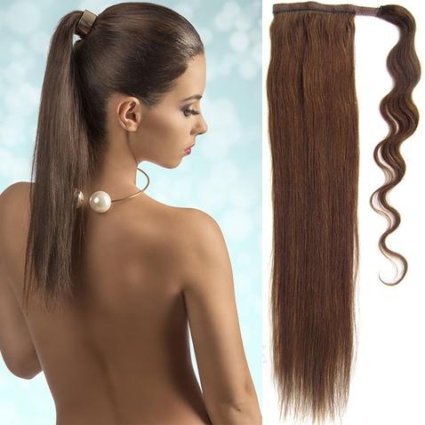 Culík, cop pravé lidské vlasy REMY, 51 cm - odstín 4