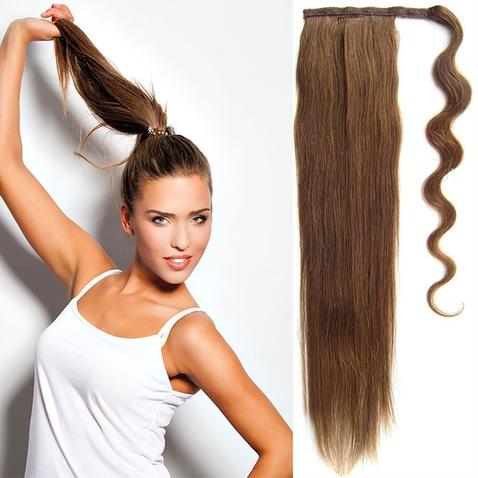 Culík, cop pravé lidské vlasy REMY, 51 cm - odstín 6
