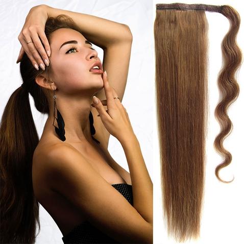 Culík, cop pravé lidské vlasy REMY, 51 cm - odstín 8