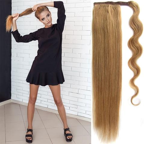 Culík, cop pravé lidské vlasy REMY, 51 cm - odstín 27