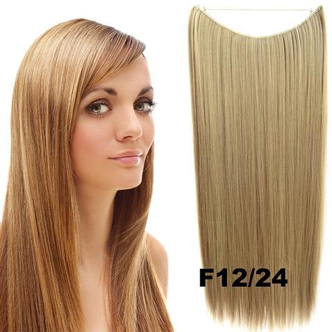 Flip in vlasy - 55 cm dlouhý pás vlasů - odstín F12/24