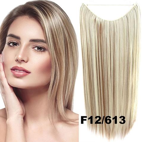 Flip in vlasy - 55 cm dlouhý pás vlasů - odstín F12/613