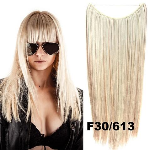 Flip in vlasy - 55 cm dlouhý pás vlasů - odstín F30/613