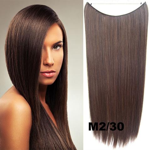 Flip in vlasy - 55 cm dlouhý pás vlasů - odstín M2/30