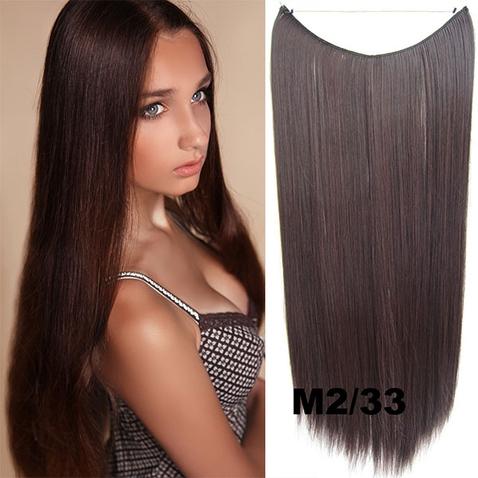 Flip in vlasy - 55 cm dlouhý pás vlasů - odstín M2/33