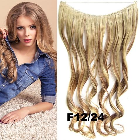 Flip in vlasy - vlnitý pás vlasů 45 cm - odstín F12/24