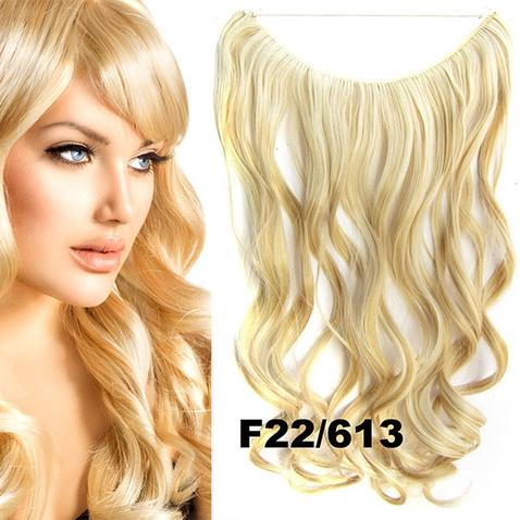 Flip in vlasy - vlnitý pás vlasů 45 cm - odstín F22/613