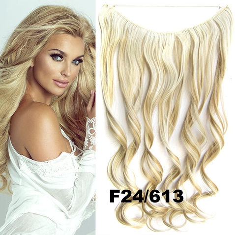 Flip in vlasy - vlnitý pás vlasů 45 cm - odstín F24/613