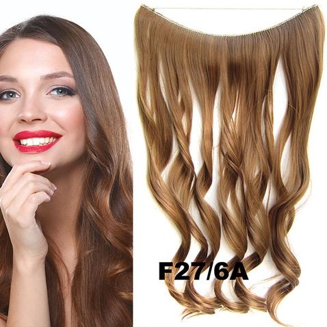 Flip in vlasy - vlnitý pás vlasů 45 cm - odstín F27/6A