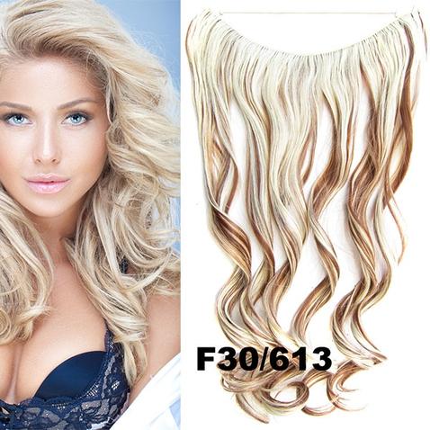 Flip in vlasy - vlnitý pás vlasů 45 cm - odstín F30/613