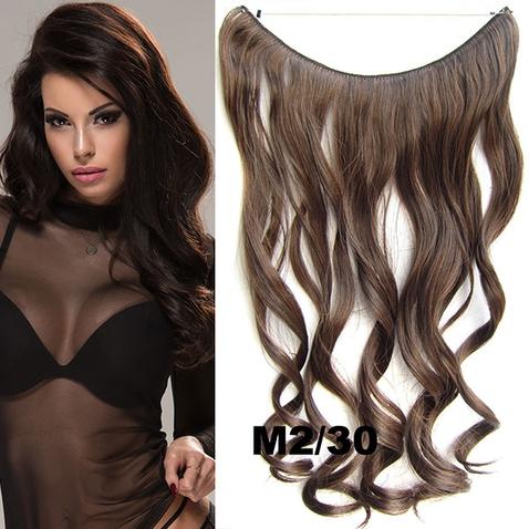 Flip in vlasy - vlnitý pás vlasů 45 cm - odstín M2/30