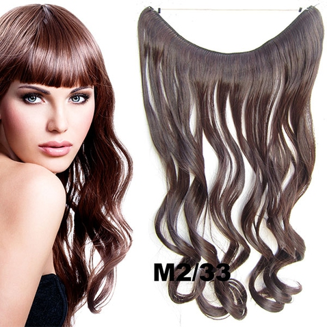 Flip in vlasy - vlnitý pás vlasů 45 cm - odstín M2/33