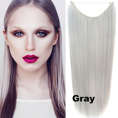 Flip in vlasy - 55 cm dlouhý pás vlasů - odstín GRAY