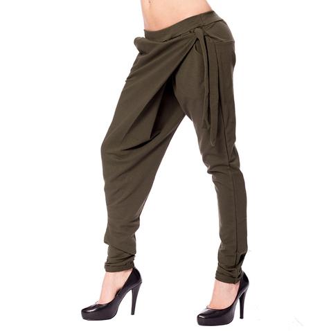 Harémové kalhoty s překladem - khaki