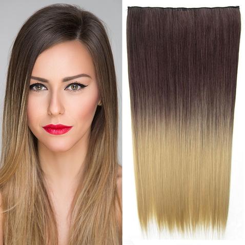 Clip in vlasy - rovný pás - ombre - odstín 4 T 24
