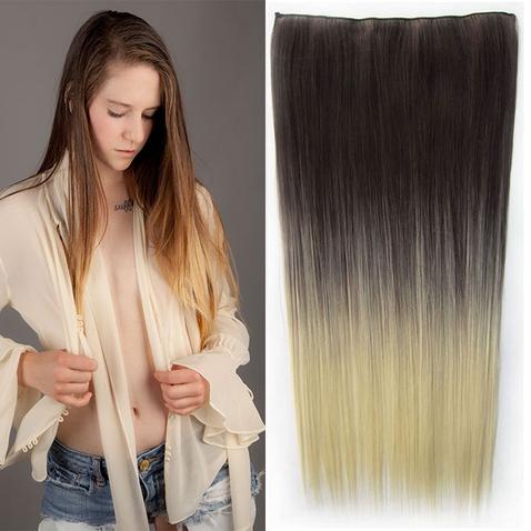 Clip in vlasy - rovný pás - ombre - odstín 4 T 613