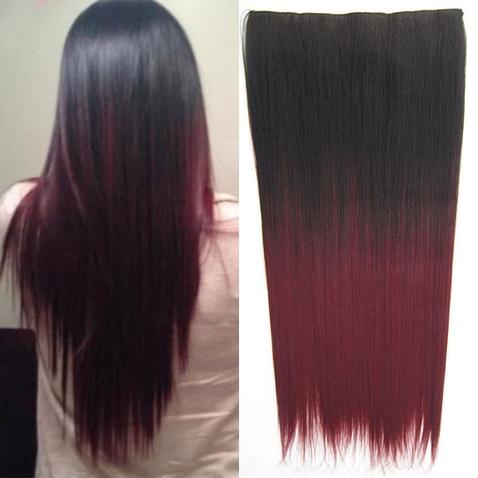 Clip in vlasy - rovný pás - ombre - odstín 2 T 99J