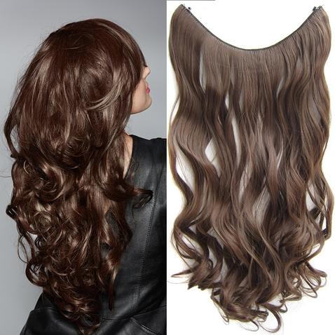 Flip in vlasy - vlnitý pás vlasů 55 cm - odstín 8