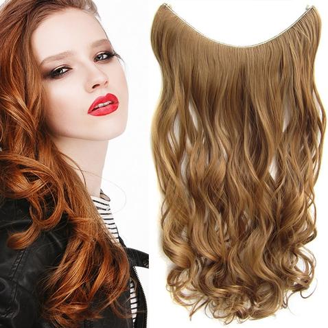 Flip in vlasy - vlnitý pás vlasů 55 cm - odstín 27