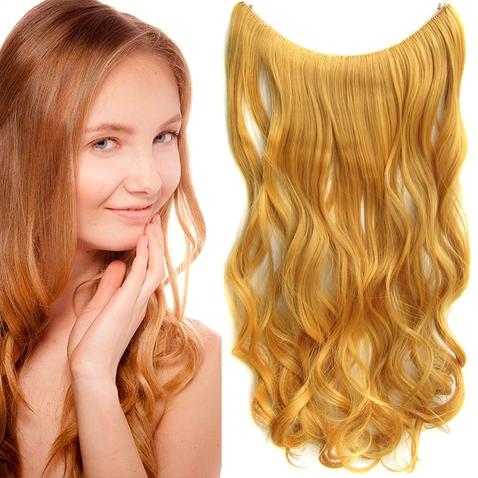 Flip in vlasy - vlnitý pás vlasů 55 cm - odstín 144