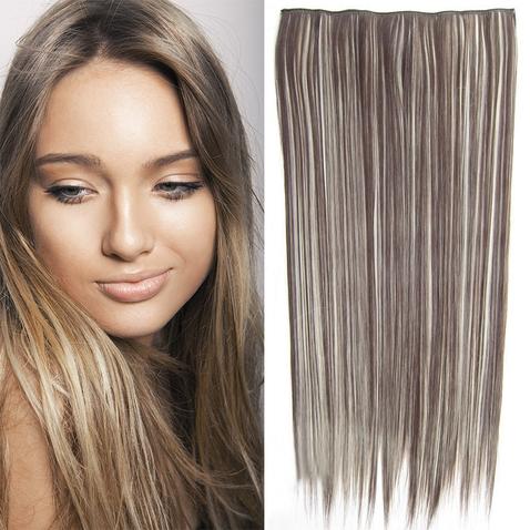 Clip in vlasy - 60 cm dlouhý pás vlasů - odstín F613/4