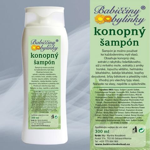 Bylinný šampon s konopným olejem - 300 ml
