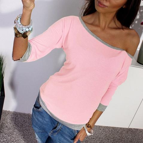 Dámský Top na jedno rameno - růžový